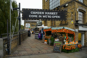 camden market - a place you can go with london coach tours